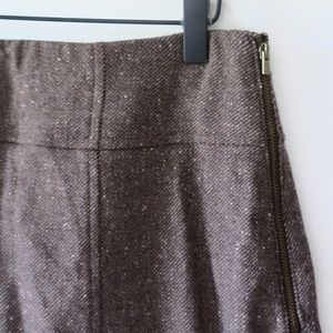 Banana Republic Brown Tweed Pencil Skirt
